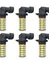 6pcs H8 / 9006 / 9005 Car Light Bulbs 4W SMD 3528 385lm LED Light Bulbs Fog Light