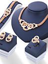 Mulheres Brincos Curtos Colar Pulseira Gema Moda bijuterias Liga Formato Circular Para Casamento Presentes de casamento