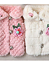 Dog Coat Dog Clothes Casual/Daily Floral/Botanical White Blushing Pink