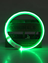 Dog Collar LED Lights / Adjustable / Retractable / Rechargeable Solid Colored TPU Green / Blue / Pink