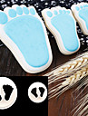 2pcs cute Little Feet design fondant molds cookie biscuits cutters Sugar craft DIY moulds embossers cake Decorating tools