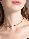 Femme Collier court /Ras-du-cou Bijoux Forme d\'Etoile Alliage Fait a la main Simple Style Bijoux PourMariage Soiree Anniversaire
