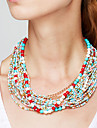 Women\'s Jewelry Shape Bohemian Festival/Holiday Elegant Fashion European Strands Necklace Statement Necklace Alloy Strands Necklace