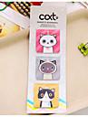 3 pcs / set cartoon cat magnetique bookmark (couleur aleatoire)