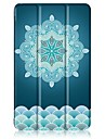 Padrao de pintura caixa de couro de tres dobras com suporte para huawei mediapad t3 tablet de 8,0 polegadas