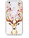 Case For Huawei P10 P10 Lite Case Cover Deer Head Pattern Feel Varnish Relief High Penetration TPU Material Phone Case For Huawei P8 Lite (2017)