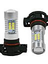 2pcs H16 Автомобиль Лампы 60W W Высокомощный LED 800lm lm Налобные фонари Налобный фонарь