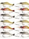 12 pcs Δόλωμα Momeală moale Jerkbaits Crevetă Silicon Luminos Plutire Pescuit mare Pescuit cu Muscă Aruncare Momeală / Pescuit la Copcă / Filare / Pescuit la Oscilantă / Pescuit de Apă Dulce