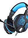 KOTION EACH G1100 Headband Wired Headphones Dynamic Plastic Gaming Earphone with Microphone / Luminous Headset