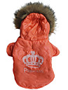 Dog Coat Hoodie Dog Clothes Casual/Daily Tiaras & Crowns Costume For Pets