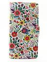 Кейс для Назначение Wiko Бумажник для карт Кошелек со стендом Флип Чехол Цветы Твердый Кожа PU для Wiko Sunset 2 Wiko Lenny 3 Wiko Lenny 2