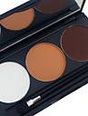 3 Matte Color in 1 Palette Po Corretivo Blush Iluminadores & Bronzeadores Po Compacto Secos Mate Po Branqueamento Lifting de Pele Longa