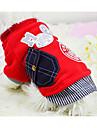 Chien Sweatshirt Vetements pour Chien Chaud Decontracte / Quotidien Lettre et chiffre Gris Rouge Costume Pour les animaux domestiques