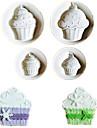 4pcs / lot sorvete forma bolacha fondant moldes de plastico embosser moldes de bolachas moldes diy decoracao de bolo