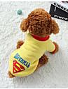 Cachorro Colete Roupas para Caes Quente Casual Geometricas Preto Cinzento Amarelo Azul Ocasioes Especiais Para animais de estimacao