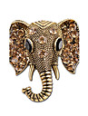 Men\'s Women\'s Brooches Rhinestone Animal Design Personalized Rhinestone Silver Plated Elephant Jewelry For Gift Stage