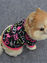 Dog Sweatshirt Dog Clothes Geometic Black / Purple / Fuchsia Polar Fleece Costume For Pets Casual / Daily