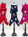Dog Jumpsuit Dog Clothes Stars Fuchsia Red Blue Cotton Costume For Spring &  Fall Winter Casual / Daily Keep Warm