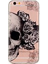 Para iPhone 7 iPhone 7 Plus Case Tampa Ultra-Fina Estampada Capa Traseira Capinha Caveiras Macia PUT para Apple iPhone 7 Plus iPhone 7