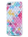 Pour iPhone X iPhone 8 Etuis coque Motif Coque Arriere Coque Formes Geometriques Flexible PUT pour Apple iPhone X iPhone 8 Plus iPhone 8