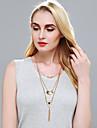 Жен. Ожерелья с подвесками Слоистые ожерелья В форме цветка Геометрической формы Сплав Базовый дизайн По заказу покупателя Богемия Стиль