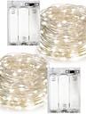 2 pz 10 m (2 * 5 m) 100leds 3aaa 4.5 v alimentato a batteria decorazione impermeabile led filo di rame luci stringa per festa di natale festa di nozze