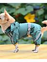 Psy Płaszcz przeciwdeszczowy Ubrania dla psów Solidne kolory Żółty Czerwony Zielony Poliester Kostium Na Wiosna i jesień Lato Męskie Damskie Codzienne