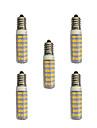 5 pcs 4.5W LED Bi-pin Lights T 76 leds SMD 2835 Warm White White 360lm 3000-3500/6000-6500K AC 220-240V
