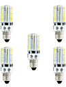 BRELONG Dimmable E11 E12 E14 E17 4W 3014 80SMD 360LM 3000-3500K/6000-6500K Warm White/White Light LED Corn Bulb AC110V/220V 5pcs