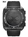 Муж. Спортивные часы Армейские часы Японский Кварцевый Ударопрочный Крупный циферблат силиконовый Группа Cool Черный