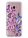 Кейс для Назначение SSamsung Galaxy S8 Plus S8 Прозрачный С узором Кейс на заднюю панель Бабочка Мягкий ТПУ для S8 Plus S8 S7 edge S7