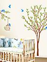 ботанический Мода Наклейки Простые наклейки Декоративные наклейки на стены материал Украшение дома Наклейка на стену