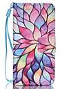 caso para ipod touch5 / 6 estojo porta carteira carteira com suporte flip pattern caso de corpo inteiro lotus hard pu couro