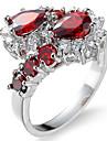남성용 여성용 약혼 반지 넉클 링 모조 큐빅 지르콘 구리 드롭 의상 보석 결혼식 파티 생일 눈금 약혼