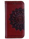 Capinha Para Apple iPhone X iPhone 8 Carteira Porta-Cartao Flip Com Relevo Estampada Corpo Inteiro Mandala Flor Rigida Couro Ecologico