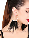Women\'s Drop Earrings Hoop Earrings Sexy Oversized Feather Alloy Feather Jewelry For Party Holiday