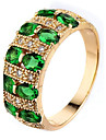 Men\'s Women\'s Knuckle Ring Engagement Ring Cubic Zirconia Luxury Classic Elegant Fashion Zircon Copper Geometric Jewelry Wedding Party