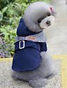 Chien Manteaux Vetements pour Chien Decontracte / Quotidien Britannique Rouge Bleu Costume Pour les animaux domestiques