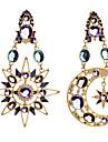Women\'s Moon / Star Cubic Zirconia Zircon Mismatch Earrings - Gold Earrings For Party / Going out