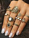 Women\'s 10pcs Gold Silver Turquoise Alloy Geometric Statement Jewelry Daily Costume Jewelry