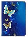 Etui Til Samsung Galaxy / Tab A 9.7 Heldekkende etui / Tablet Cases Sommerfugl Hard PU Leather til