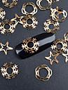 20 Bijoux a ongles Metallique Mode Haute qualite Quotidien