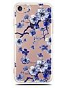 Coque Pour iPhone X iPhone 8 Ultrafine Transparente Motif Coque Arriere Fleur Flexible TPU pour iPhone X iPhone 8 Plus iPhone 8 iPhone 7