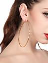 Női Függők Francia kapcsos fülbevalók - Túlméretezett Arany / Ezüst Kompatibilitás Parti Utca