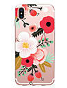 Etui Til Apple iPhone X / iPhone 8 / iPhone 7 Ultratynn / Moenster Bakdeksel Blomsternaal i krystall Myk TPU til iPhone X / iPhone 8 Plus / iPhone 8