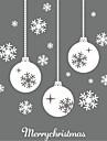 Романтика Геометрия Рождество Наклейки Простые наклейки 3D наклейки Декоративные наклейки на стены Свадебные наклейки, Бумага Винил