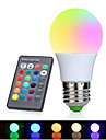 1set 3W E27 LED Globe Bulbs 1 leds High Power LED Decorative RGB 350-380lm 2700-6500K AC 85-265V
