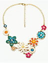 Women\'s Turquoise Cubic Zirconia Pendant Necklace Zircon Turquoise Daisy Ladies Classic Bohemian Fashion Gold Necklace Jewelry For Party Prom Promise