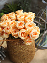Artificial Flowers 1 Branch European Roses Tabletop Flower