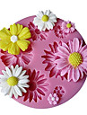 Cute Sunflower Design Silicone Candy Fondant Chocolate Sugar Mold and Cake Decorating Mould